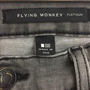 Flying Monkey Jeans - Flying Monkey Distressed Skinny Jeans Gray 28